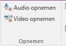 Audio of video opnemen in OneNote