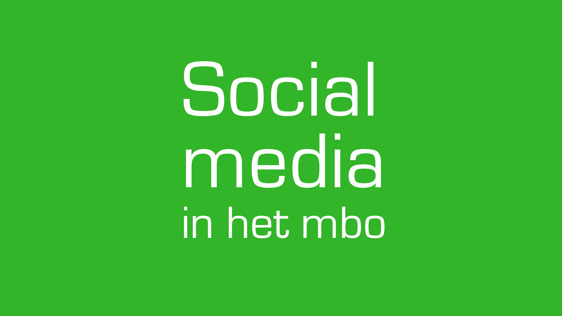 Social media in het mbo tegel