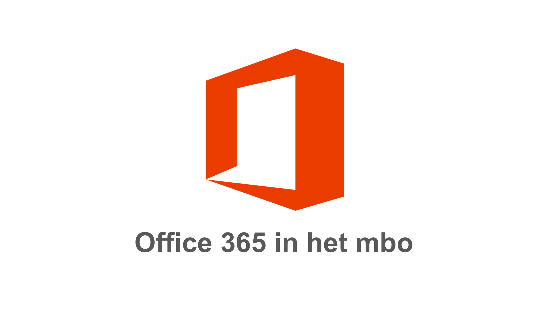Office 365 in het mbo tegel